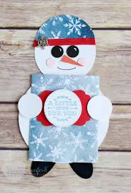 12 days of christmas series day 6 snowman gift card holder