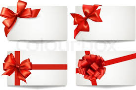 bows for cars presents set of beautiful gift cards with gift bows with ribbons vector
