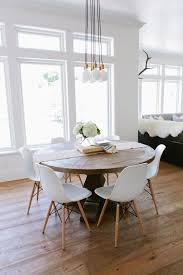 Fancy Modern Round Kitchen Table  Design On Sets For  Home - White and wood kitchen table