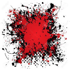 blood red paint blood red ink splat with black paint and grunge effect stock photo