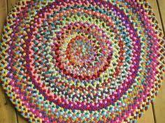 Making Braided Rugs Made To Order Custom Handmade Braided Round Rug In Your Choice Of