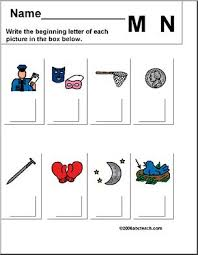 beginning letter m n u0027 worksheet i abcteach com abcteach