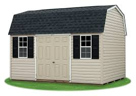 gambrel barns pine creek structures 10 x14 gambrel barn with warm sandalwood vinyl siding and charcoal shingle roof