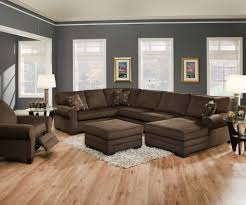 Sectional Sofas Fabric Living Room Microsuede Sectional Fabric Sectional Sofa With