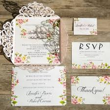 wedding invitations floral pink wedding invitations wedding invites part 3