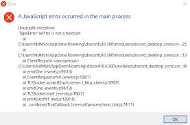 discord javascript error better discord java script error issue 687 jiiks