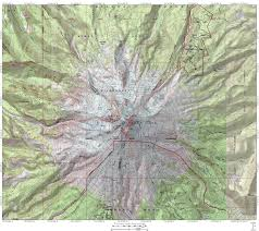 Mt Hood Trail Map Mount Shasta Timberline And The Relative Size Of Cascade