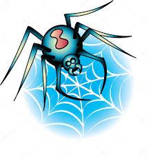 black widow spider on a web tattoo design u2014 stock vector