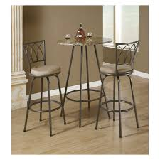Kitchen Bistro Table And 2 Chairs Boraam Beau Metal Pub Table With Glass Top Hayneedle