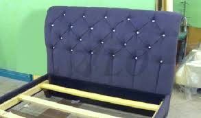 How Much Fabric To Upholster A Sofa How To Reupholster A Tufted Headboard And Install The Bed Frame