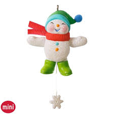 snow memories mini snowman ornament keepsake ornaments