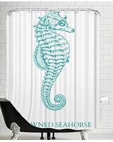 Seahorse Shower Curtain Deals On American Flat