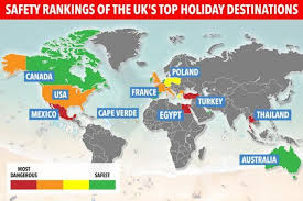is it safe to travel to mexico images New map reveals the safest and least safe countries to travel jpg