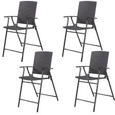 4 pcs rattan wicker folding chairs folding chairs u0026 stools