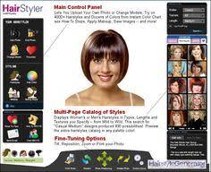 virtual hairstyle generator make up pinterest