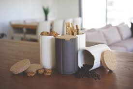 ceramic canisters for the kitchen 2x ceramic canisters with cork lid ceramic spice jars