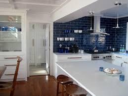 blue kitchen tile backsplash kitchen backsplash ideas better homes gardens within blue subway