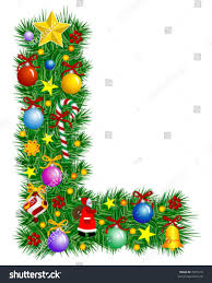 letter l christmas tree decoration alphabet stock vector 7021210