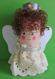 simple toilet paper roll christmas angel craft favecrafts com