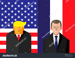 French And American Flags June 7 2017 Vector Illustration Usa Stock Vector 654804295