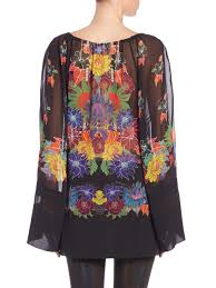just cavalli mexican couture print tunic lyst