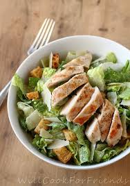 grilled chicken caesar salad with homemade dressing hail