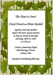 camouflage wedding invitations camouflage wedding invitations
