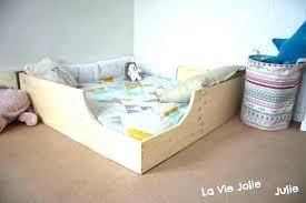 chambre montessori lit bebe au sol chic lit bacbac au sol sommier directement au sol