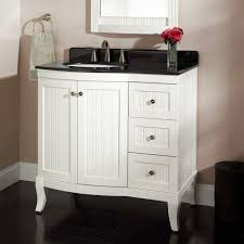cream wall paint white small real wood vanity with storage drawers