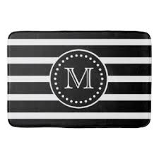 Black And White Bathroom Rug by Monogram Bath Mats U0026 Rugs Zazzle