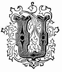 u ornamental letter clipart etc
