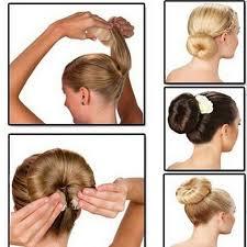 different hair buns 2pcs set different sizes hair tools magic buns hair rope 3