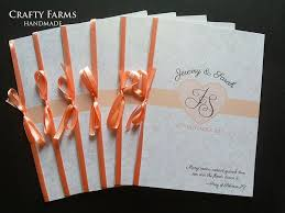 program booklets wedding card malaysia crafty farms handmade peonies