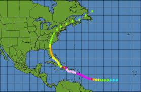 how often do hurricanes hit georgia