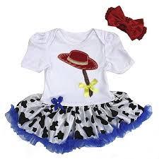 2 piece blue white cowgirl toy story baby onesie tutu tutus