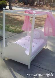 homemade toddler bed attempting aloha how to make a toddler canopy bed tutorial