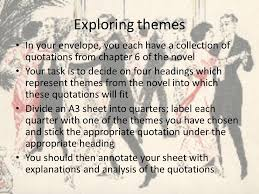 themes and ideas in the great gatsby the great gatsby chapter 6 exploring themes in your envelope you