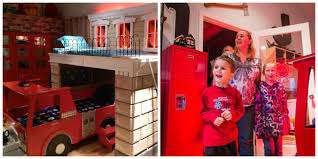 firefighter bedroom makeover for terminally ill little boy the