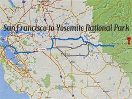 Zip Code Map San Francisco by Map San Francisco To Yosemite National Park Michigan Map