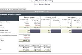 Payroll Reconciliation Excel Template Equity Reconciliation Report My Excel Templates