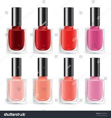 set color nail polish vector illustration stock vector 556049254