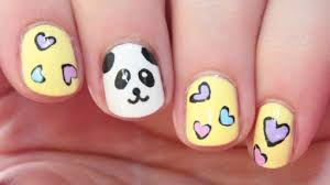 how to paint cute panda nail art diy tutorial step by step
