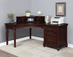 dover height corner desk and hutch in cherry by turnkey products