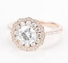 flower halo engagement ring best 25 moissanite diamonds ideas on halo engagement
