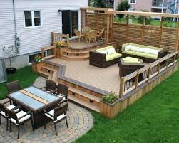 Decks And Patios Designs Patio And Deck Ideas For Backyard Stylish Backyard Deck And Patio
