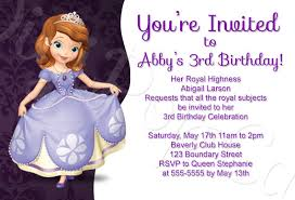 2 mind blowing sofia the first birthday party invitations