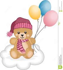 teddy balloons winter teddy flying balloons royalty free stock photography