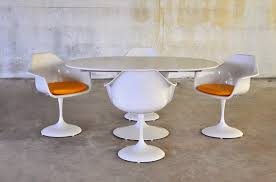 Expandable Table by Select Modern Tulip Dining Set With Expandable Table And Four Chairs