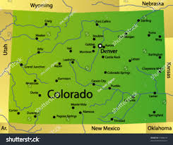 Boulder Colorado Map Detailed Vector Map Colorado State Usa Stock Vector 37908619