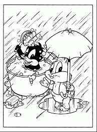 Beautiful Baby Looney Tunes Coloring Pages Madagascar